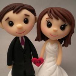 Wedding Cake Topper - Custom made - Teeny Topper Style